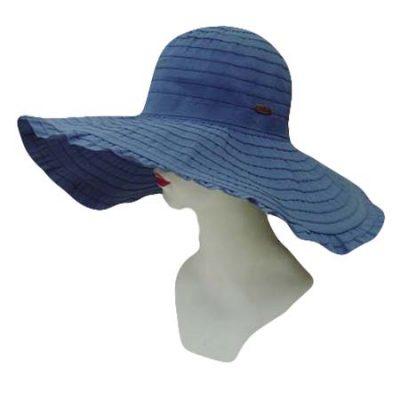 Ruffled Brim Fabric Sun Hat