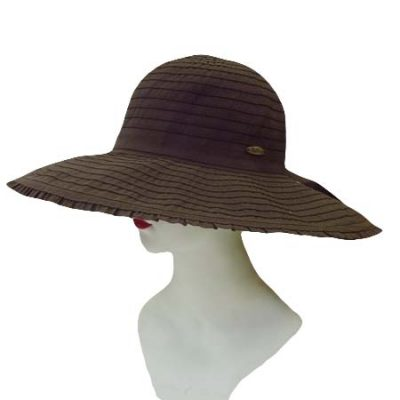 Ruffled Brim Fabric Sun Hat